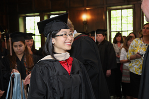 Bai at Honor's Convocation