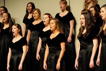 Pictured: The Saint Mary's College Women's Choir