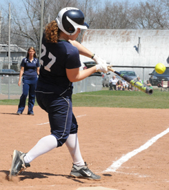 Morgan Bedan had a single in game one for the Belles.