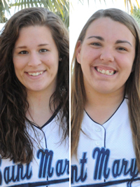 Jillian Busfield and Callie Selner combined to hit six home runs against Manchester.
