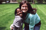 Penpals Tyonna Cohn and Katie Cahill