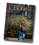 courier cover art for the fall 2008 issue