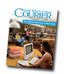 courier cover art for the fall 2009 issue