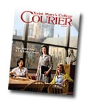 courier cover art for the spring 2009 issue