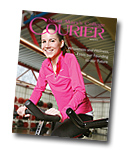 courier cover art for the spring 2010 issue