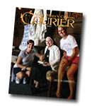 courier cover art for the fall 2011 issue