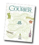 courier cover art for the spring 2012 issue