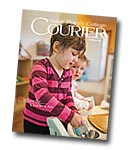 courier cover art for the fall 2013 issue