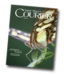 courier cover art for the spring 2014 issue