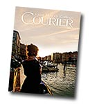 courier cover art for the fall 2014 issue