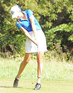 Kaitlyn Cartone shot an 84 and tied for seventh place on Wednesday.