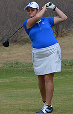 Courtney Carlson led the Belles on Tuesday.