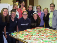 The Saint Mary's Golf Team assisting with a craft show at Little Flower Catholic Church.