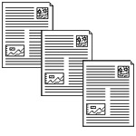 three staggered document clipart