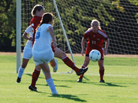 Jordan Diffenderfer connects for her first collegiate goal.