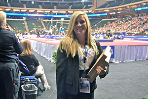 Katie visited the Visa (gymnastics) Championship this summer as part of an internship.