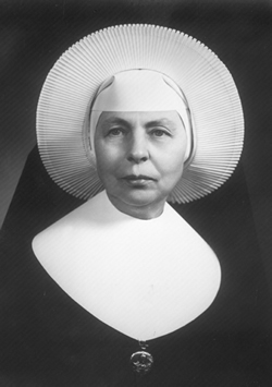 Sister M. Madeleva Wolff, longerst-serving president of Sain Mary's College.