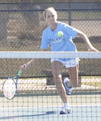 Margaret Faller won her singles match 6-0, 6-0.