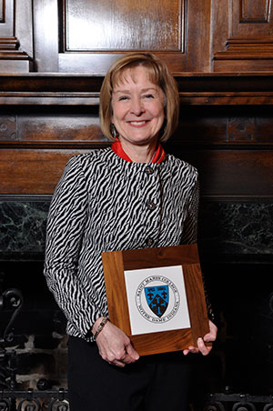 Mary Ann Merryman, professor of business and accounting, received The Donald R. (ND '73) and Nora Barry Fischer '73 Award for Teaching Excellence.