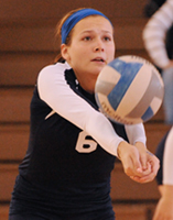 Meredith Mersits had 13 digs for the Belles against Hope.