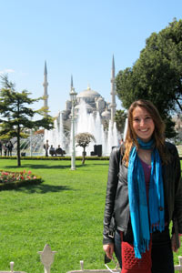 Jean Osberger '13 visited the Blue Mosque in Istanbul, Turkey, during her study abroad in Seville, Spain.
