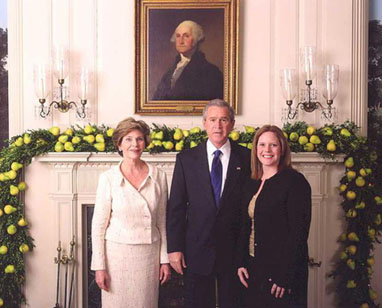Lauren Fabina with President Bush and the First Lady