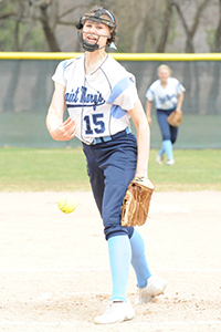 Jessica Alberts earned the game-one pitching win.