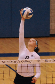 Kati Schneider had 24 kills and 21 digs for her first career 20-20 match.