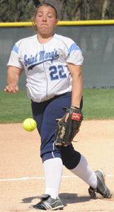 Callie Selner allowed one run on five hits in a complete game win in game one.