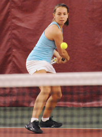 Jackie Kjolhede won at three singles.