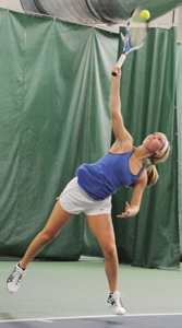 Mary Catherine Faller wrapped up her career in the MIAA Tournament against Kalamazoo.