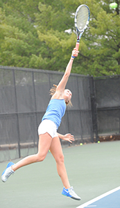 Shannon Elliott helped clinch the team's win over Trine.