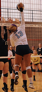 Meaghan Gibbons led the team in kills on Friday.