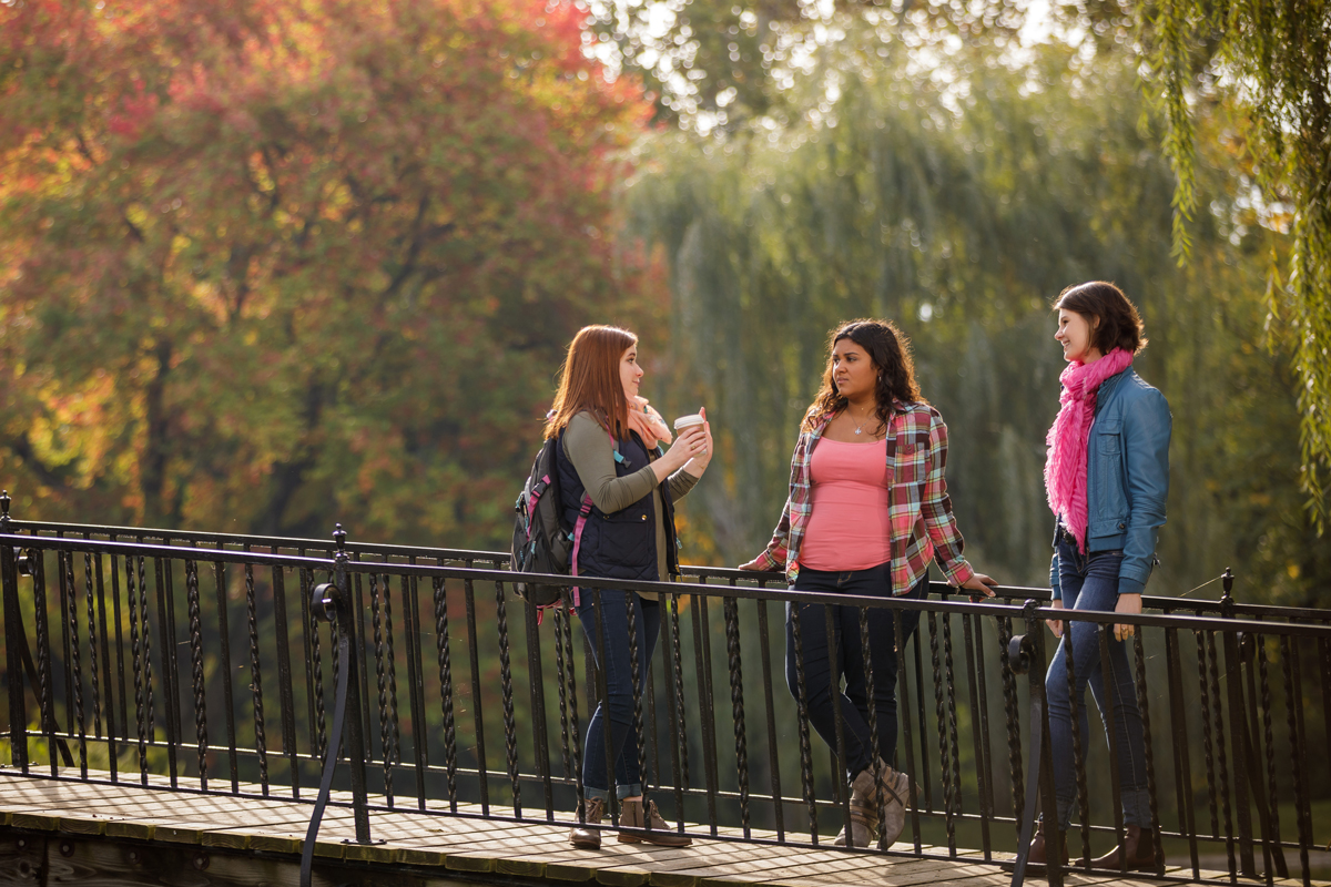 Campus life at Fall on Saint Mary's College campus – Notre Dame, IN