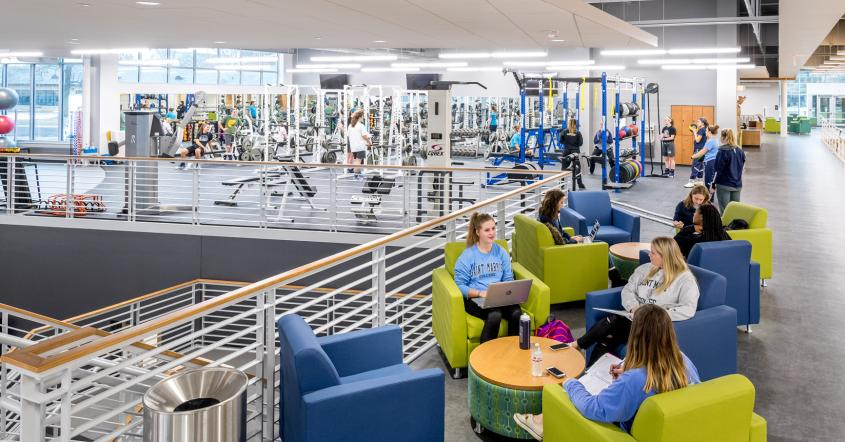 Students at Angela Athletic & Wellness Complex