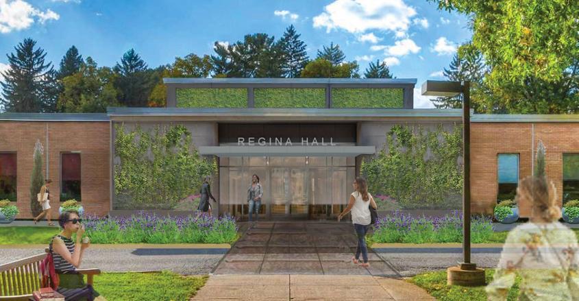 Exterior view of future Regina Hall