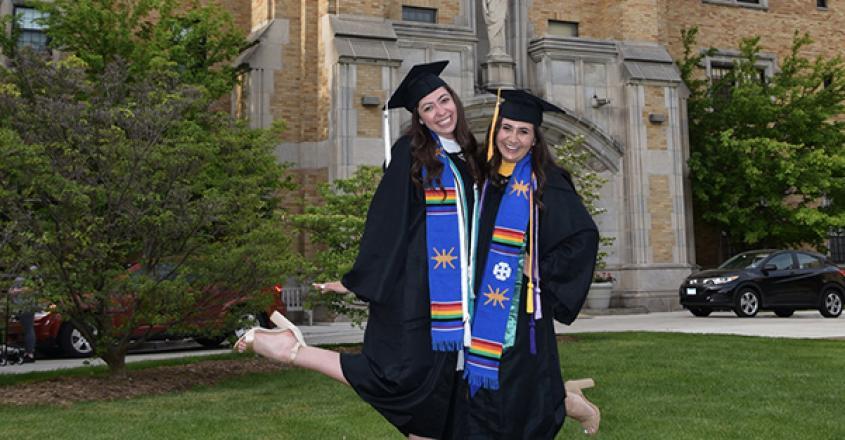 Graduates outside of Multicultural Celebration