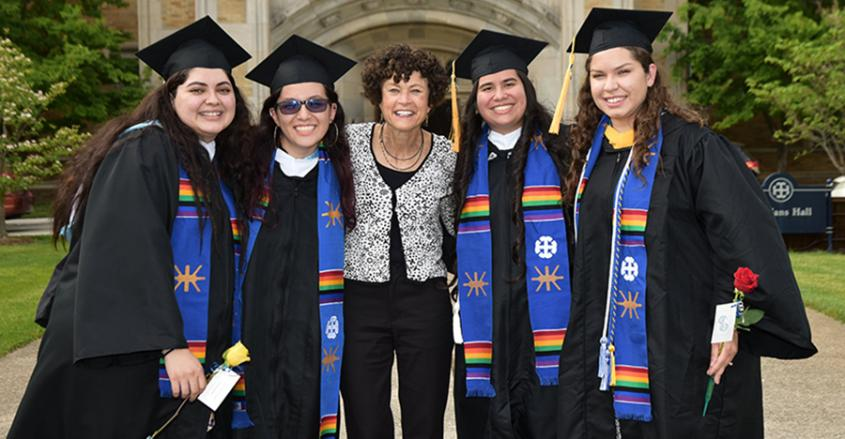 Graduates after of Multicultural Celebration