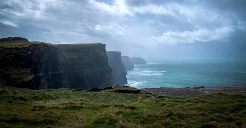 View of the  Cliffs of Moher in County Clare, Ireland