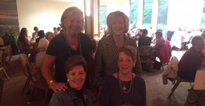 Kathy Malone '69, Mary Alice Herod Lajoie '69, Kate Garrity Leatherman '69, Ann Hollander Sedlacek '69