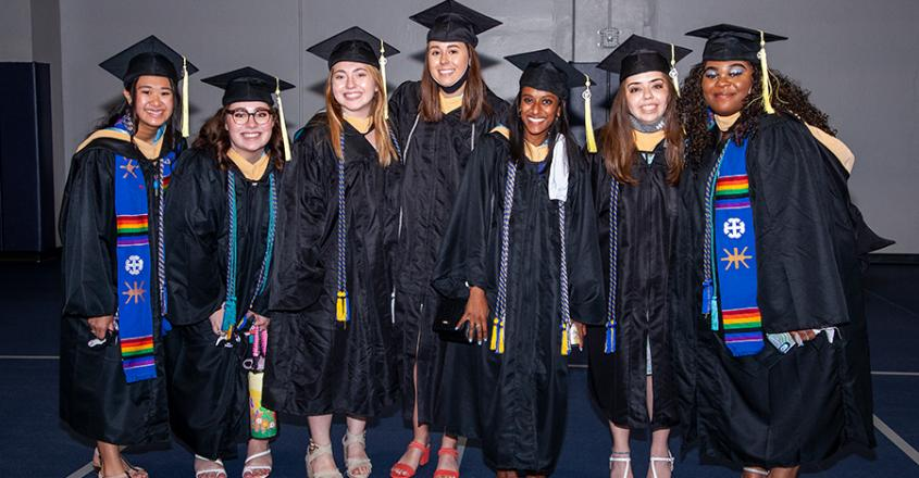 A group of Graduates in Angela before Commencement