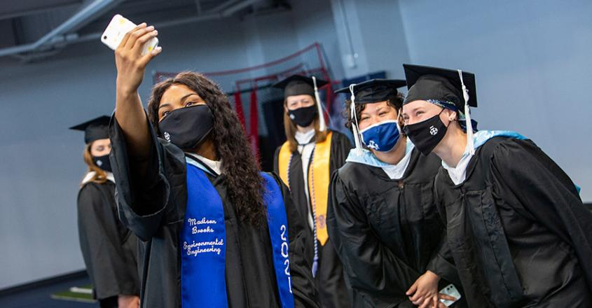 Time for a selfie before Commencement